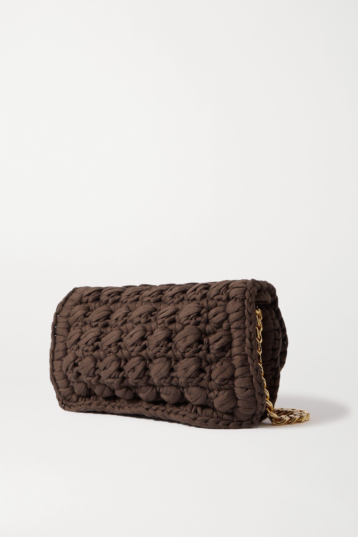 Bottega Veneta Sac porté épaule en coton mélangé crocheté