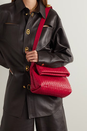 Bottega Veneta The Fold intrecciato leather shoulder bag