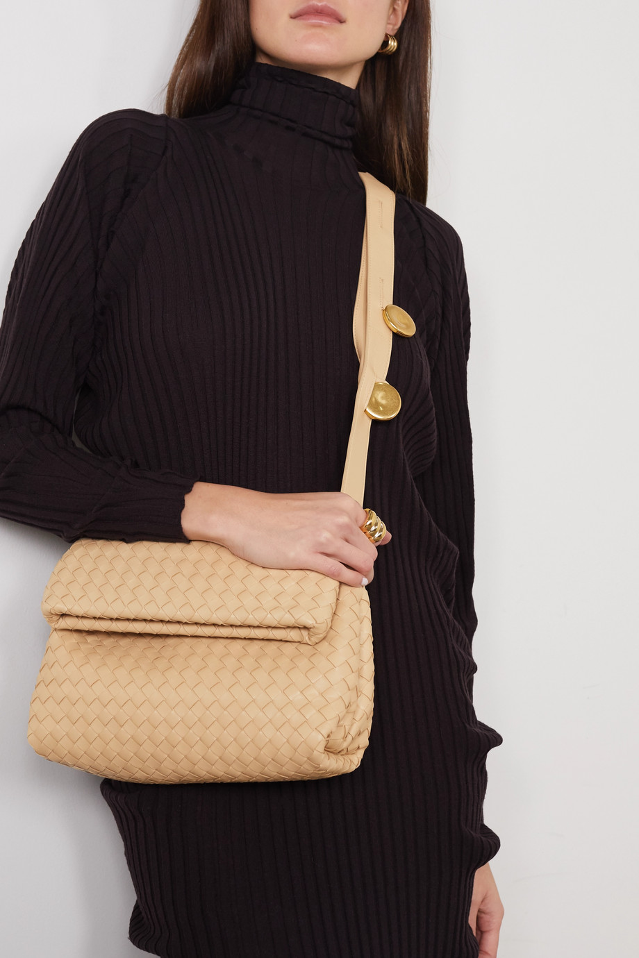 Bottega Veneta Messenger embellished intrecciato leather shoulder bag
