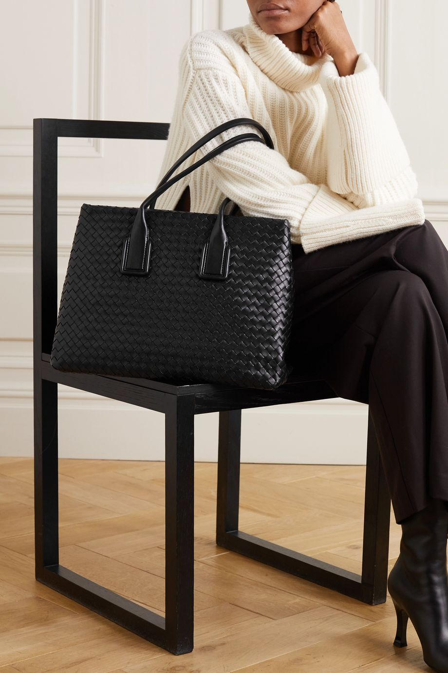 Bottega Veneta Sac à main en cuir Intrecciato Small