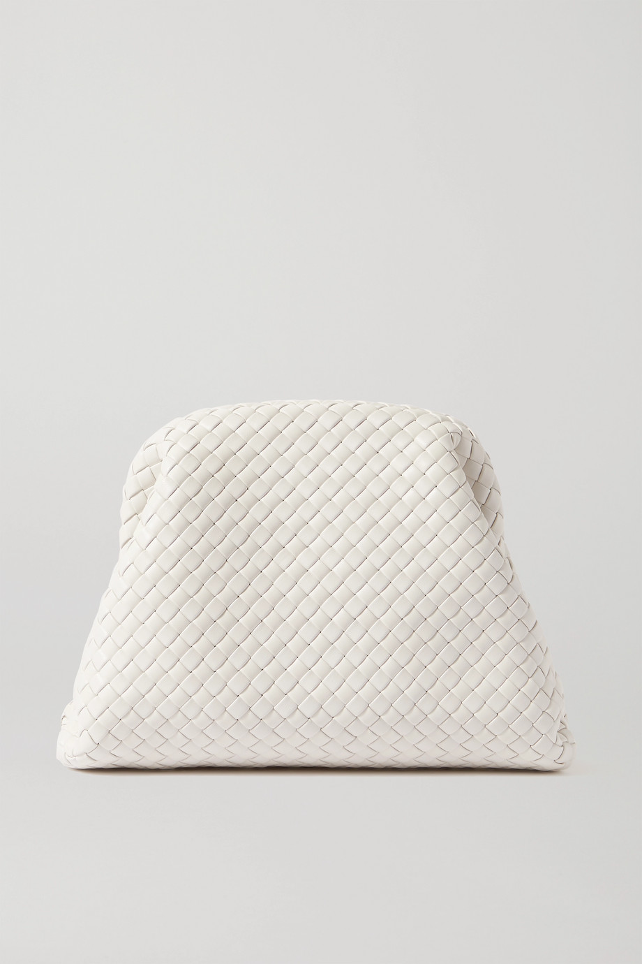 Bottega Veneta The Pouch Clutch aus Intrecciato-Leder