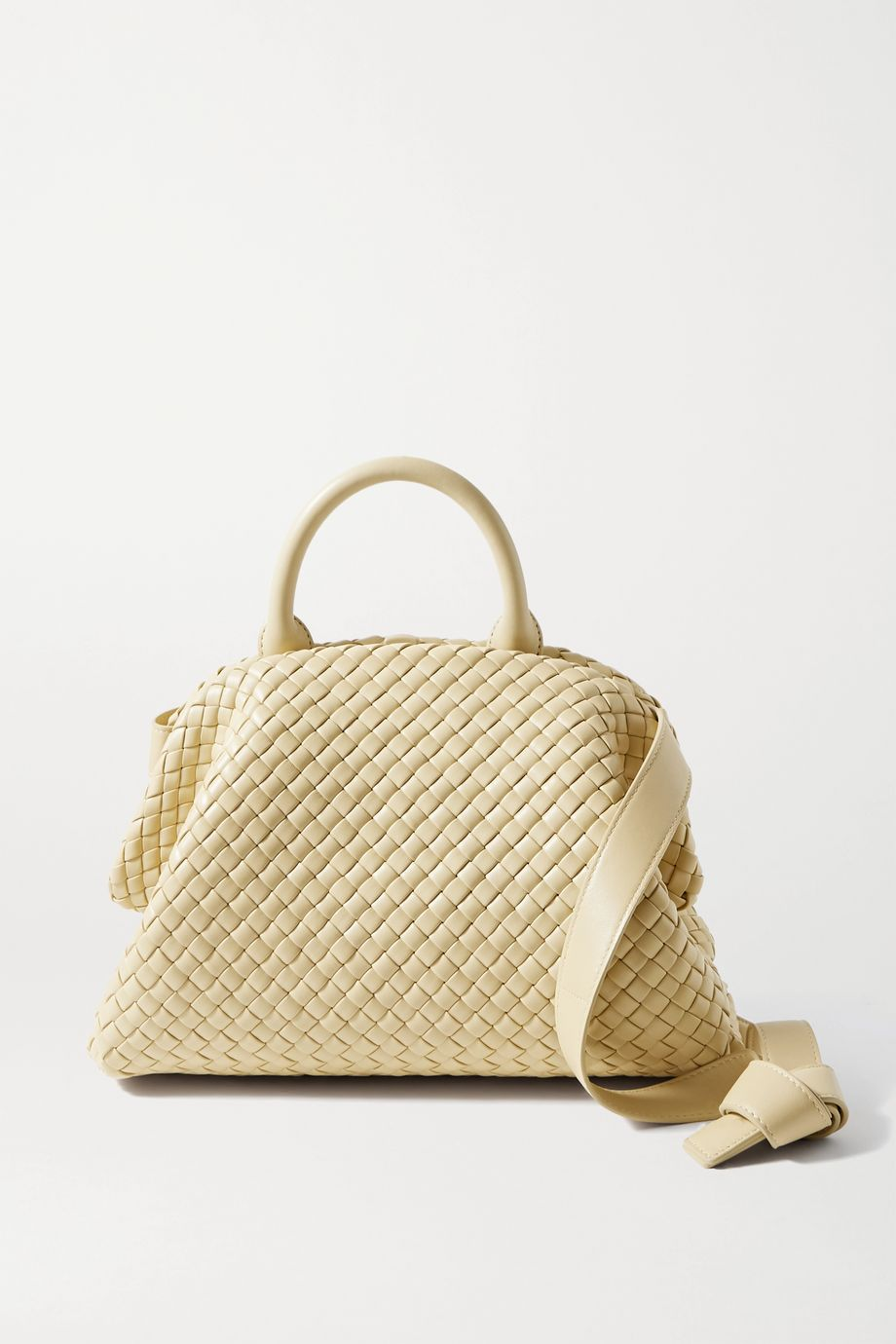 Bottega Veneta Sac à main en cuir intrecciato The Handle