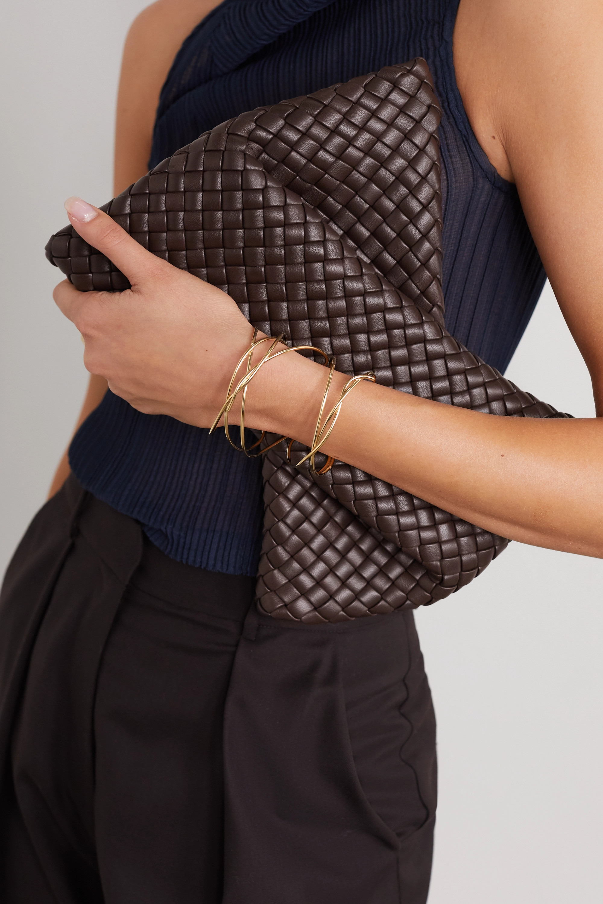 Bottega Veneta Twist intrecciato leather clutch