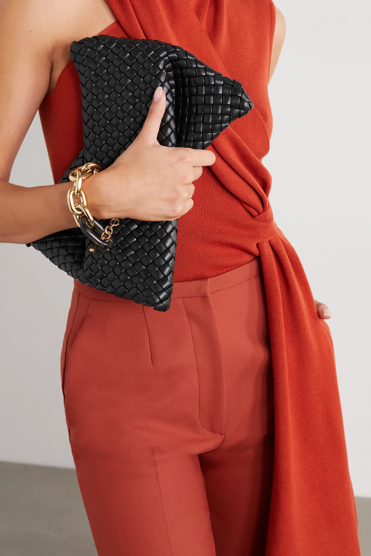 Bottega Veneta The Crisscross intrecciato leather clutch