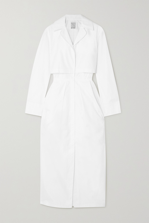 Rosie Assoulin - Layered cotton-poplin midi dress
