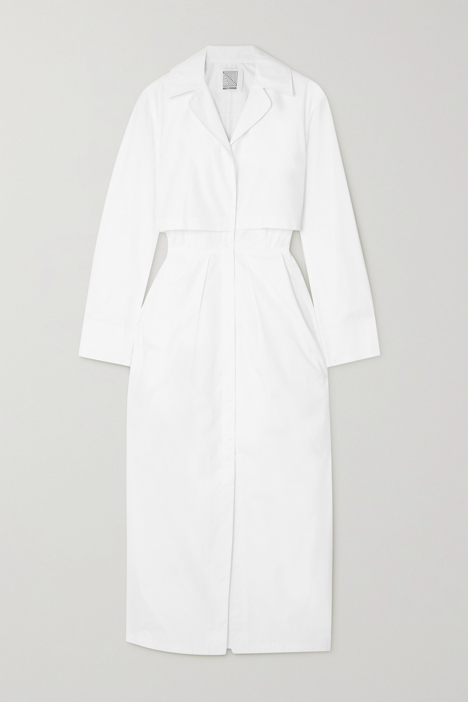 Rosie Assoulin Layered cotton-poplin midi dress