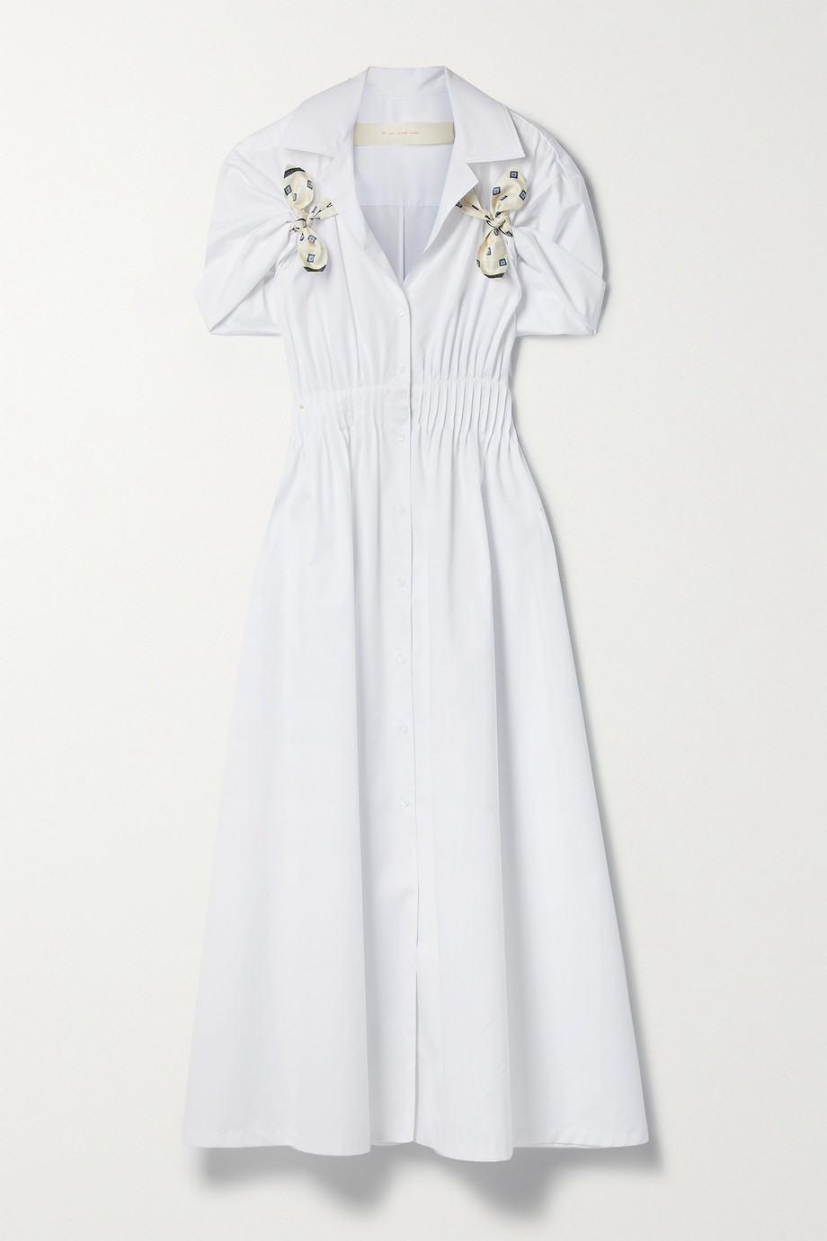 Rosie Assoulin By Any Other Name silk twill-trimmed cotton-poplin shirt dress