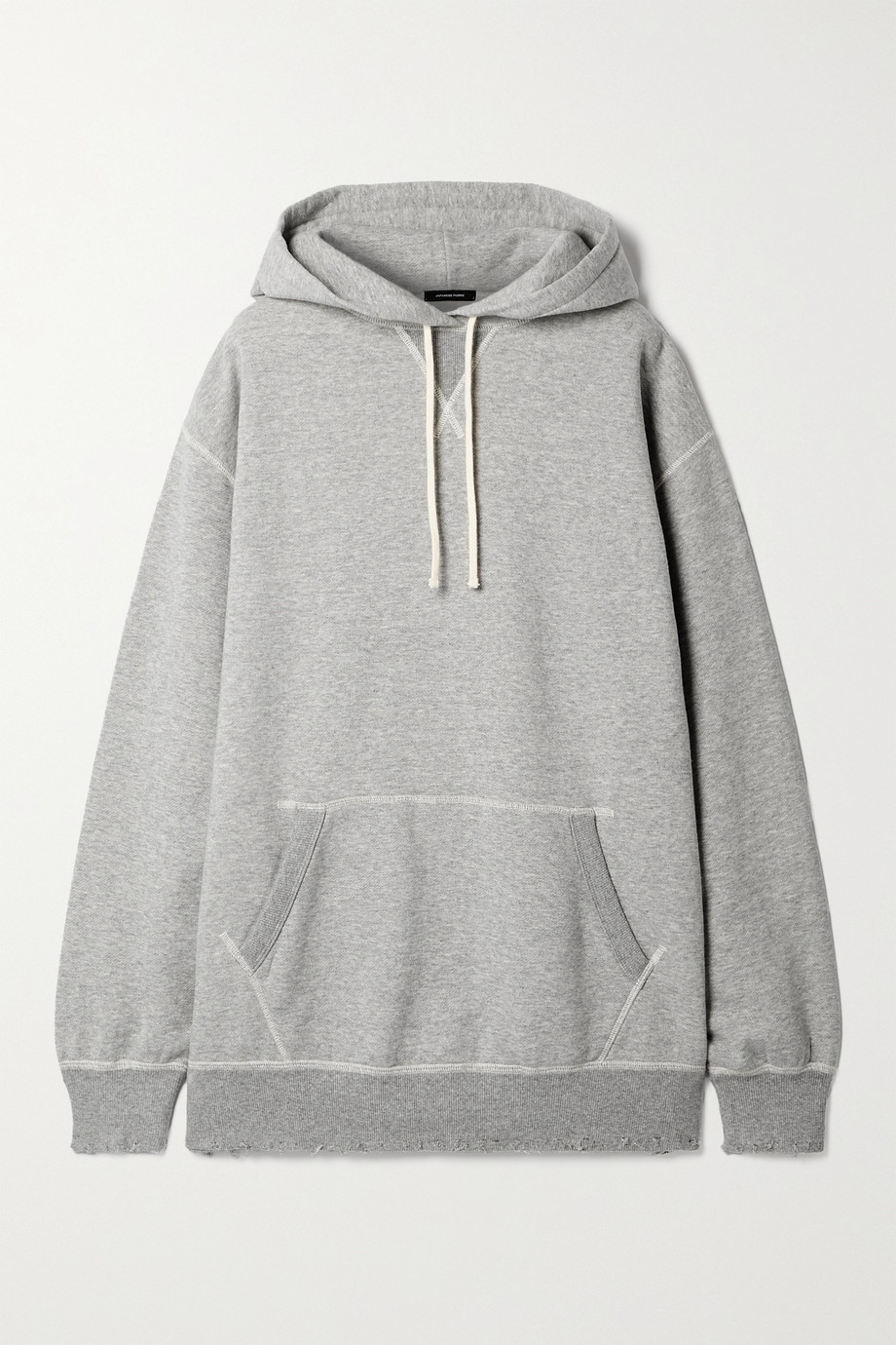 R13 Vintage oversized distressed cotton-jersey hoodie