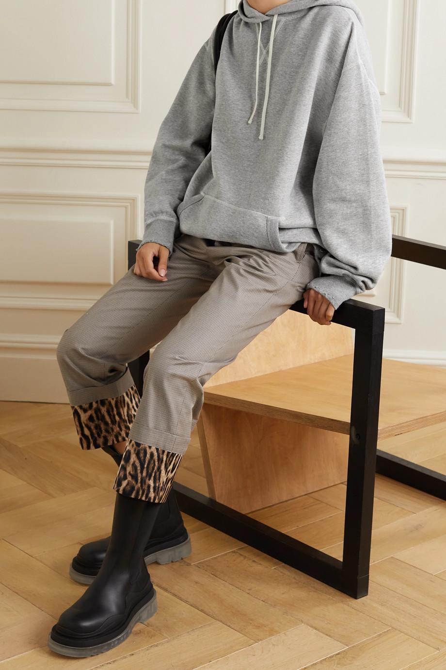R13 Vintage Oversized-Hoodie aus Baumwoll-Jersey in Distressed-Optik