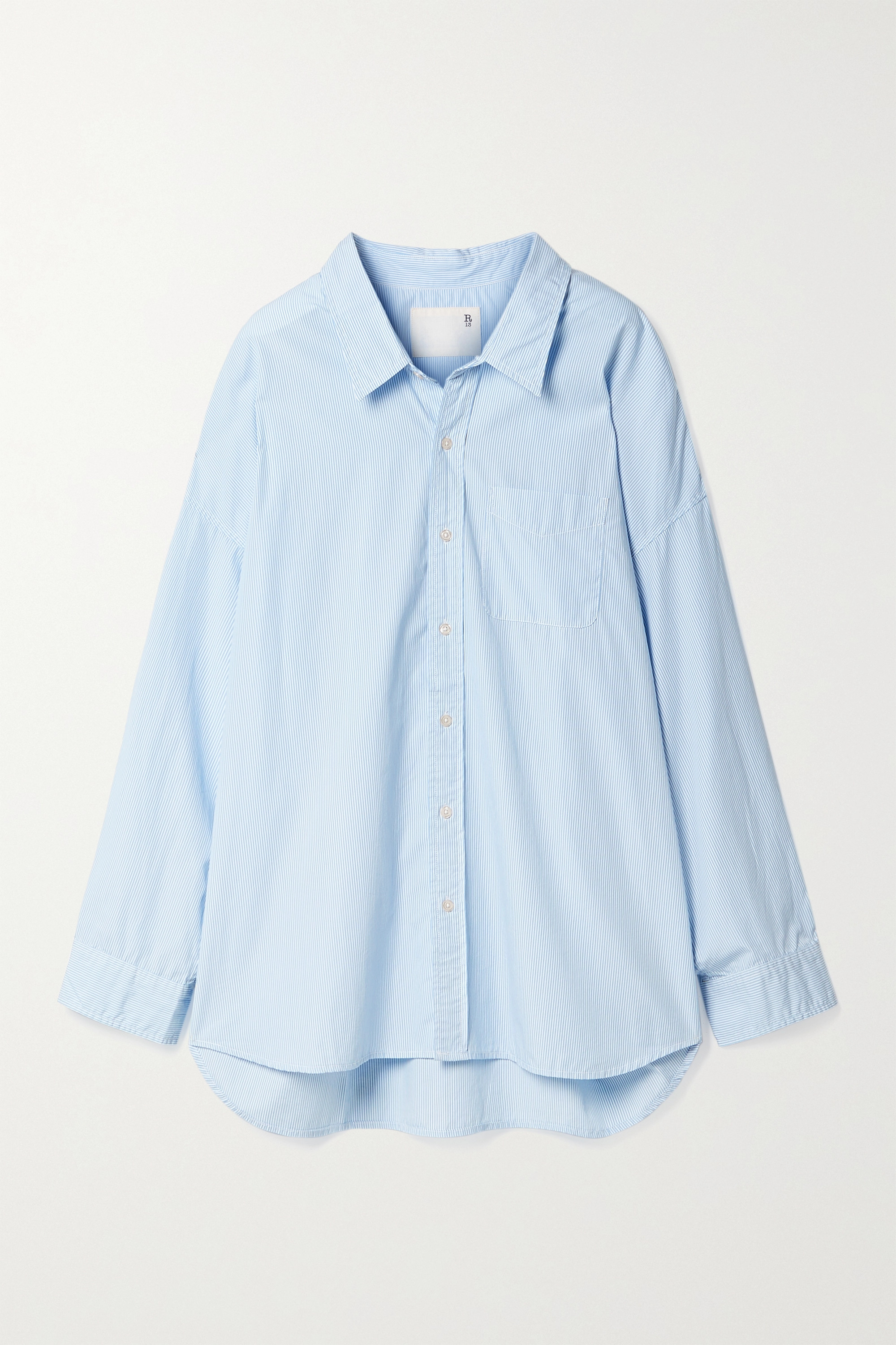 R13 Oversized pinstriped cotton Oxford shirt