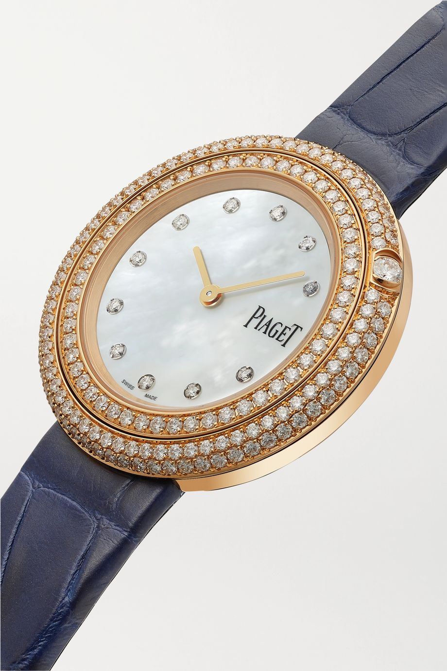 Piaget Possession 34mm 18-karat rose gold, alligator and diamond watch