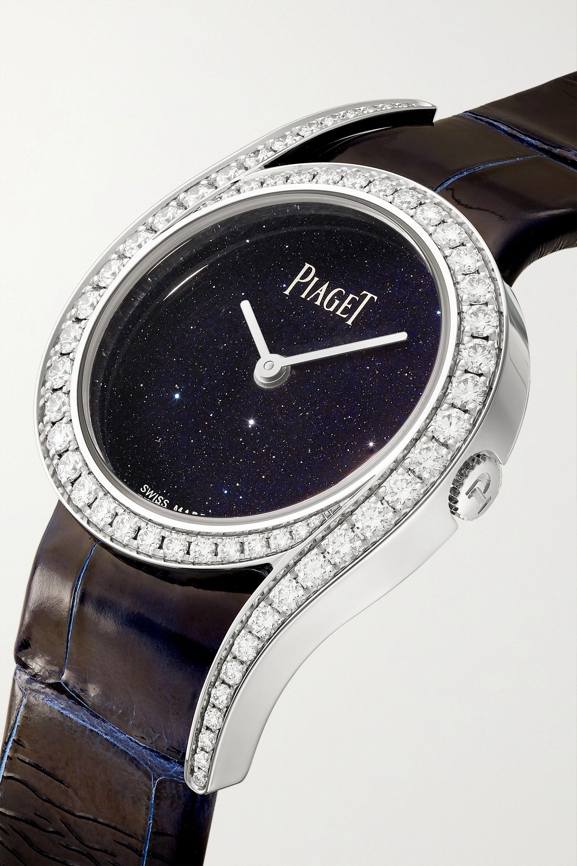Piaget Limelight Gala Limited Edition 32mm 18-karat white gold, alligator and diamond watch