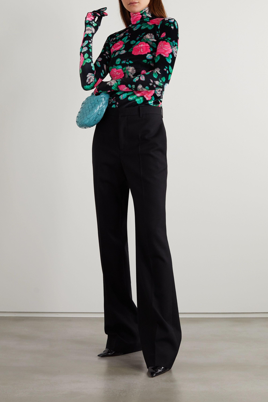 Richard Quinn Haut à col montant en velours à imprimé fleuri