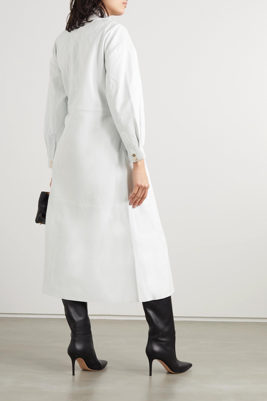 Dodo Bar Or Sitter draped leather midi dress
