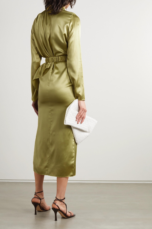 Dodo Bar Or Berna belted draped silk-satin midi dress