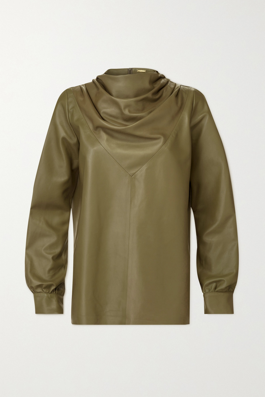 Dodo Bar Or Bilbi draped leather blouse