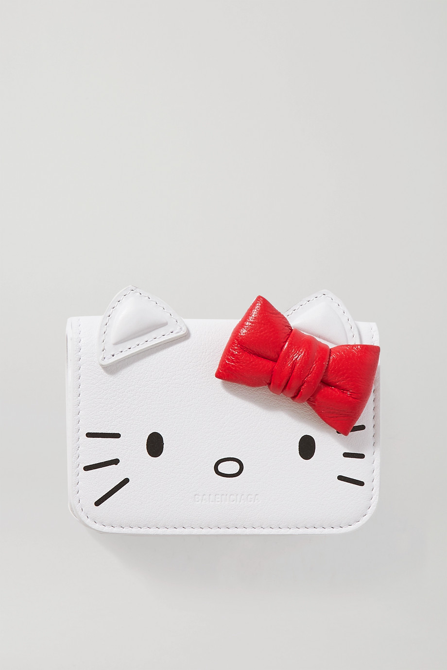 Balenciaga + Hello Kitty mini printed leather wallet