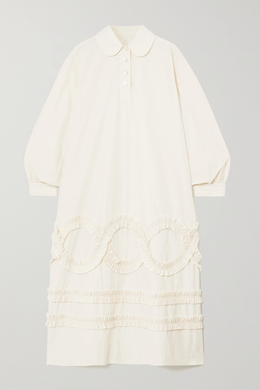 MINJUKIM Ruffled poplin midi shirt dress