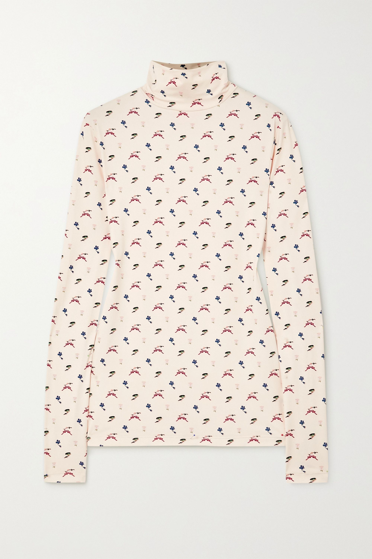MINJUKIM Printed jersey turtleneck top