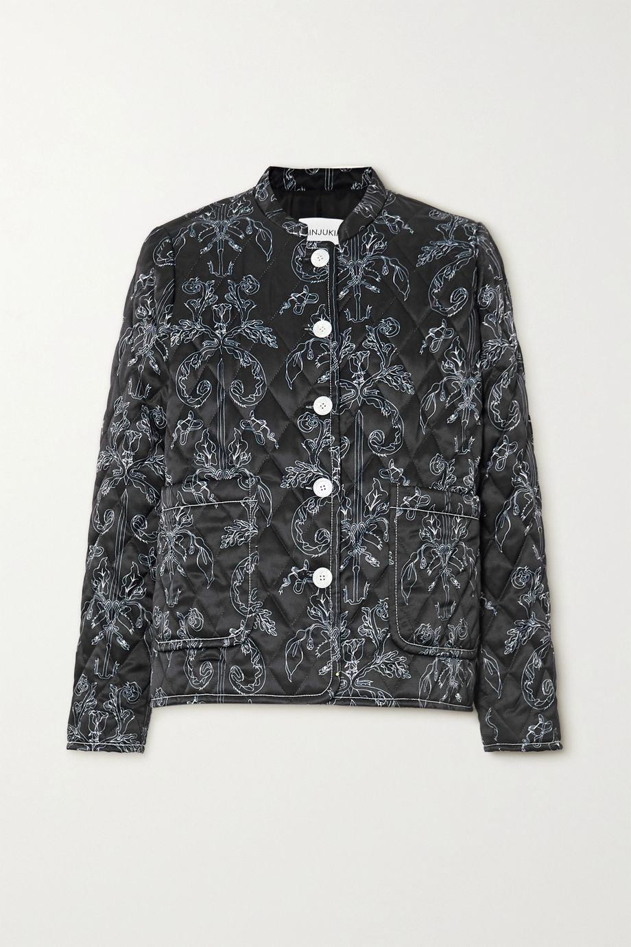 MINJUKIM Quilted printed satin jacket
