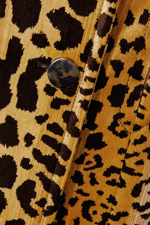 Miu Miu Double-breasted leopard-print velvet coat