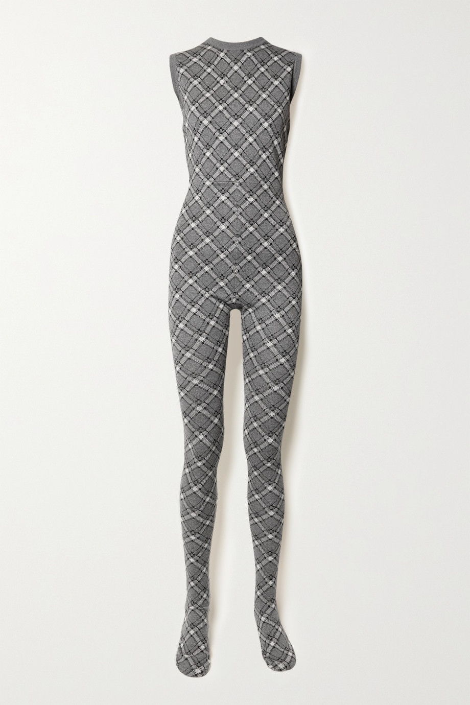 Miu Miu Checked wool jumpsuit