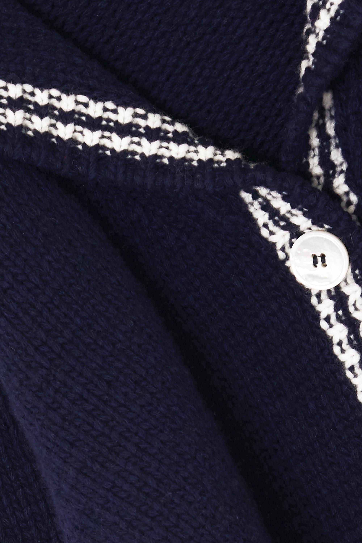 Miu Miu Cropped intarsia wool cardigan