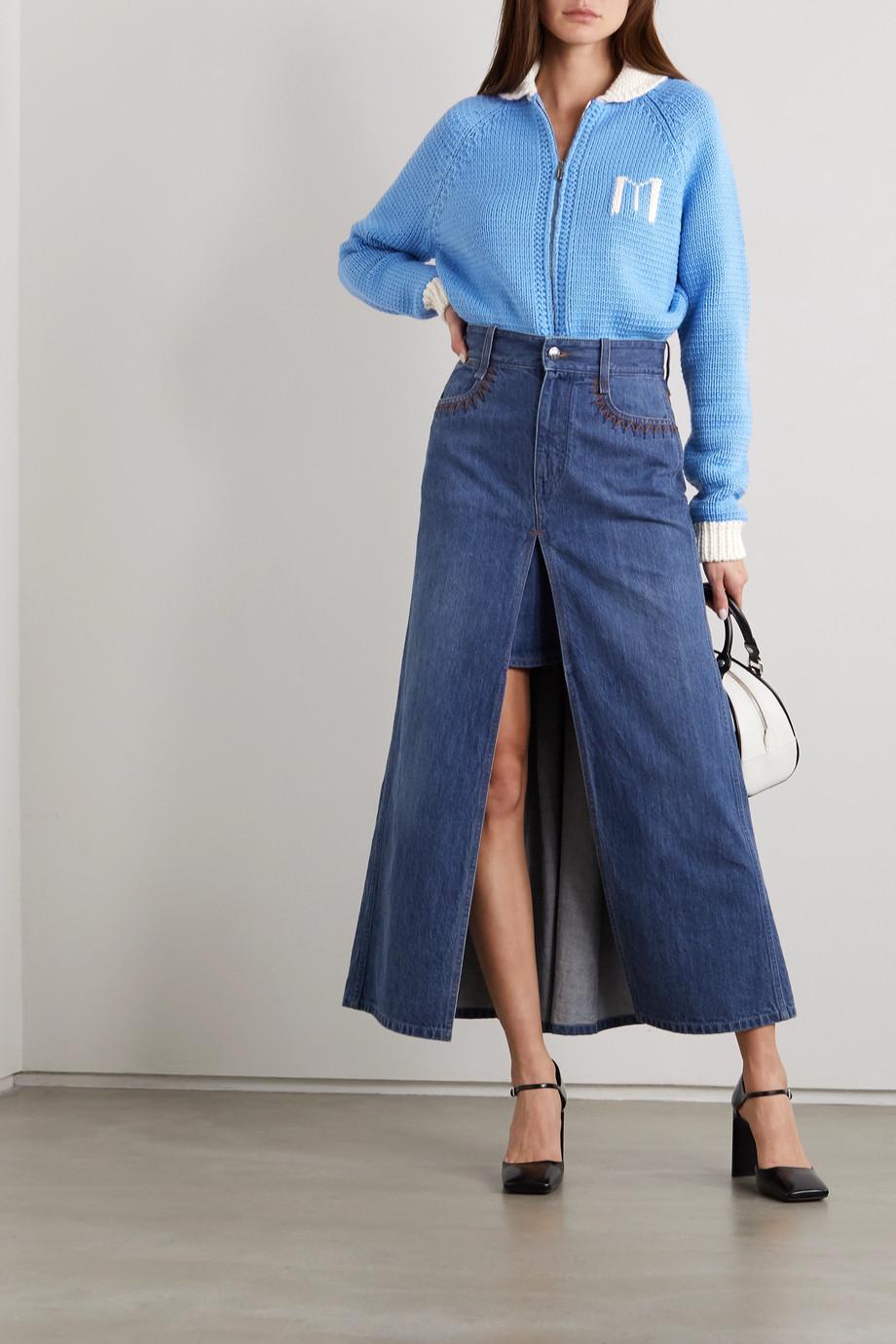Miu Miu Intarsia wool bodysuit
