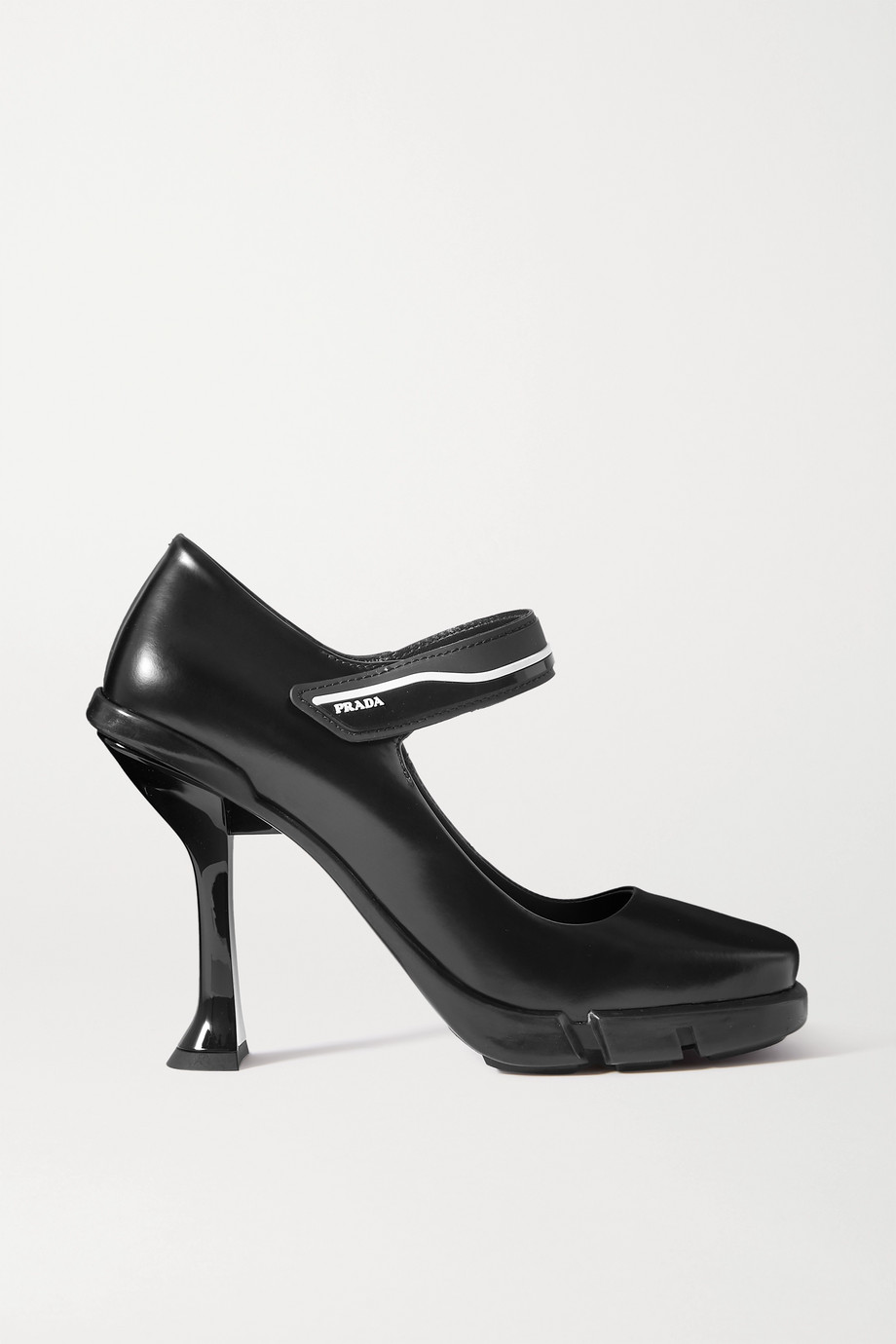 Prada 105 logo-detailed leather pumps