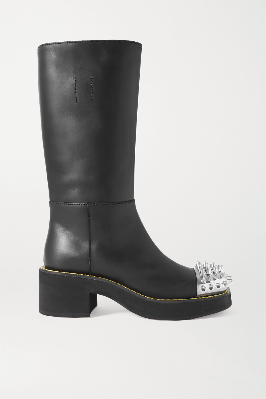 Miu Miu Spiked leather boots