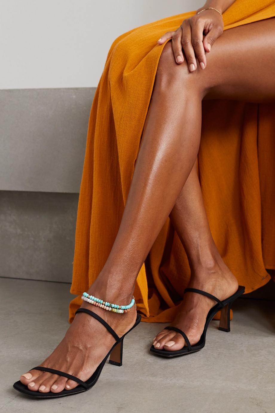 Jacquie Aiche 14-karat rose gold opal anklet
