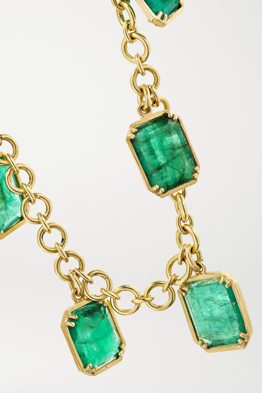 Sylva & Cie Bracelet en or 18carats et émeraudes