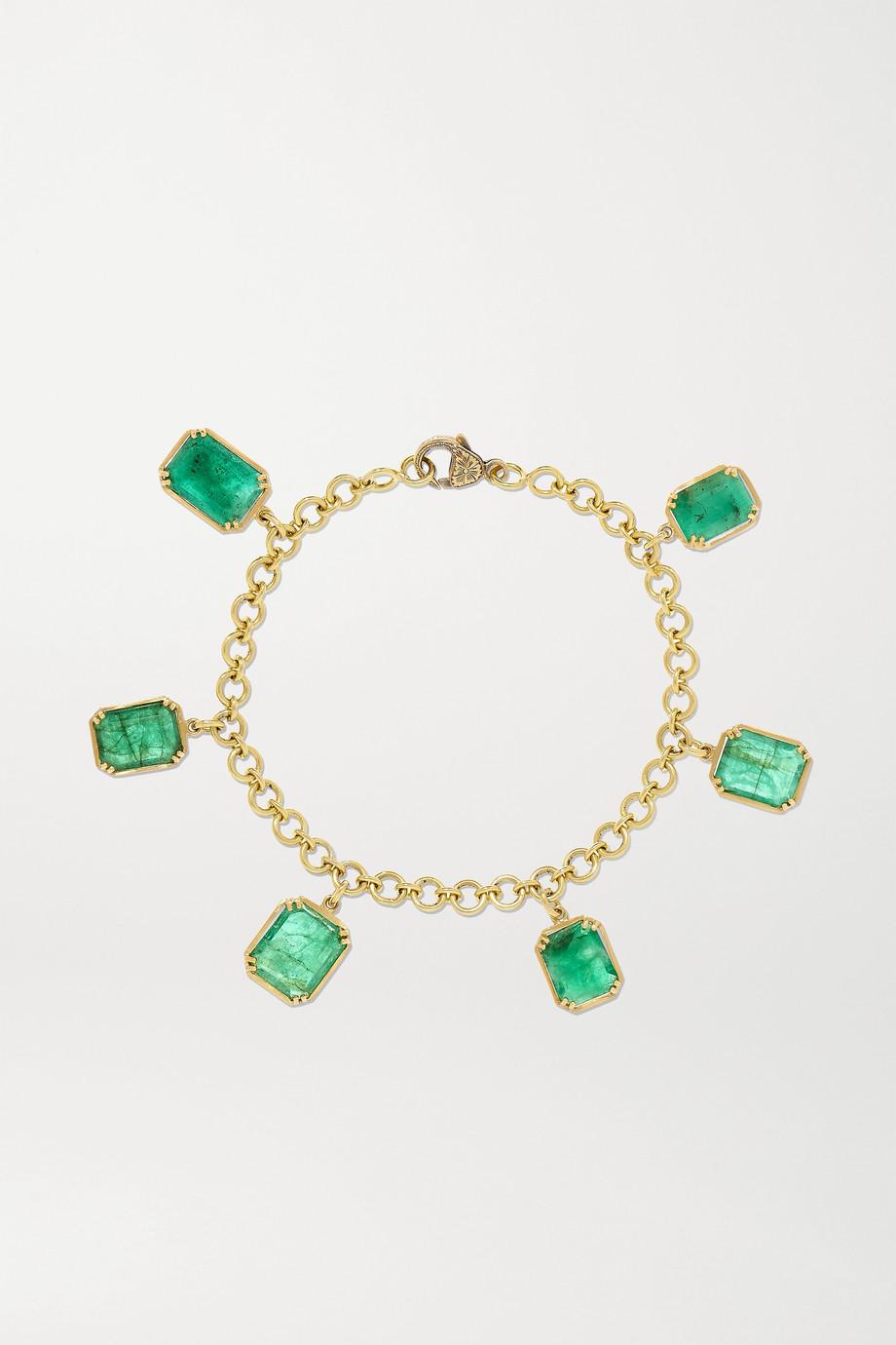 Sylva & Cie Armband aus 18 Karat Gold mit Smaragden
