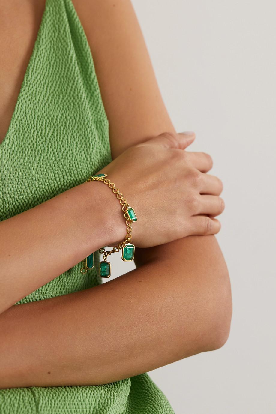 Sylva & Cie 18-karat gold emerald bracelet