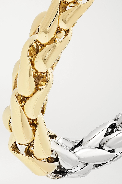 Lauren Rubinski Large Kette aus 14 Karat Gelb- und Weißgold