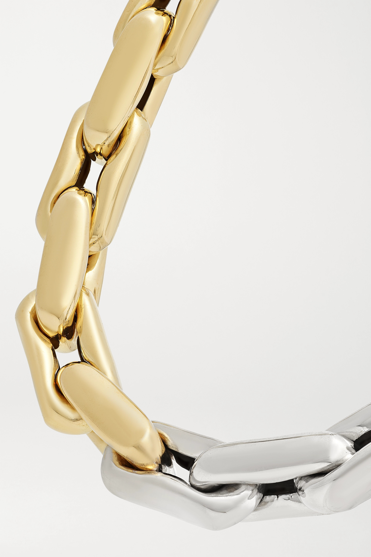 Lauren Rubinski Medium 14-karat yellow and white gold necklace