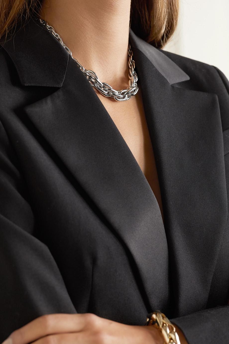 Lauren Rubinski Small 14-karat white gold necklace