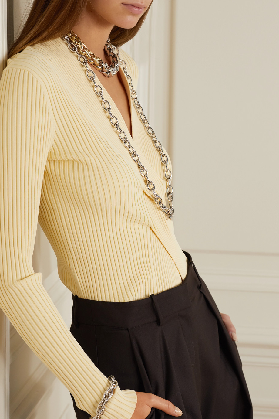 Lauren Rubinski Collier en or blanc 14 carats (585/1000)