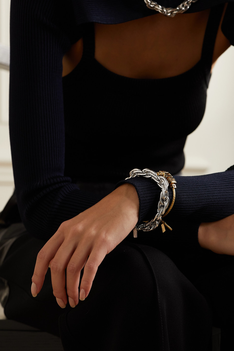 Lauren Rubinski Bracelet en or blanc 14 carats (585/1000) Small