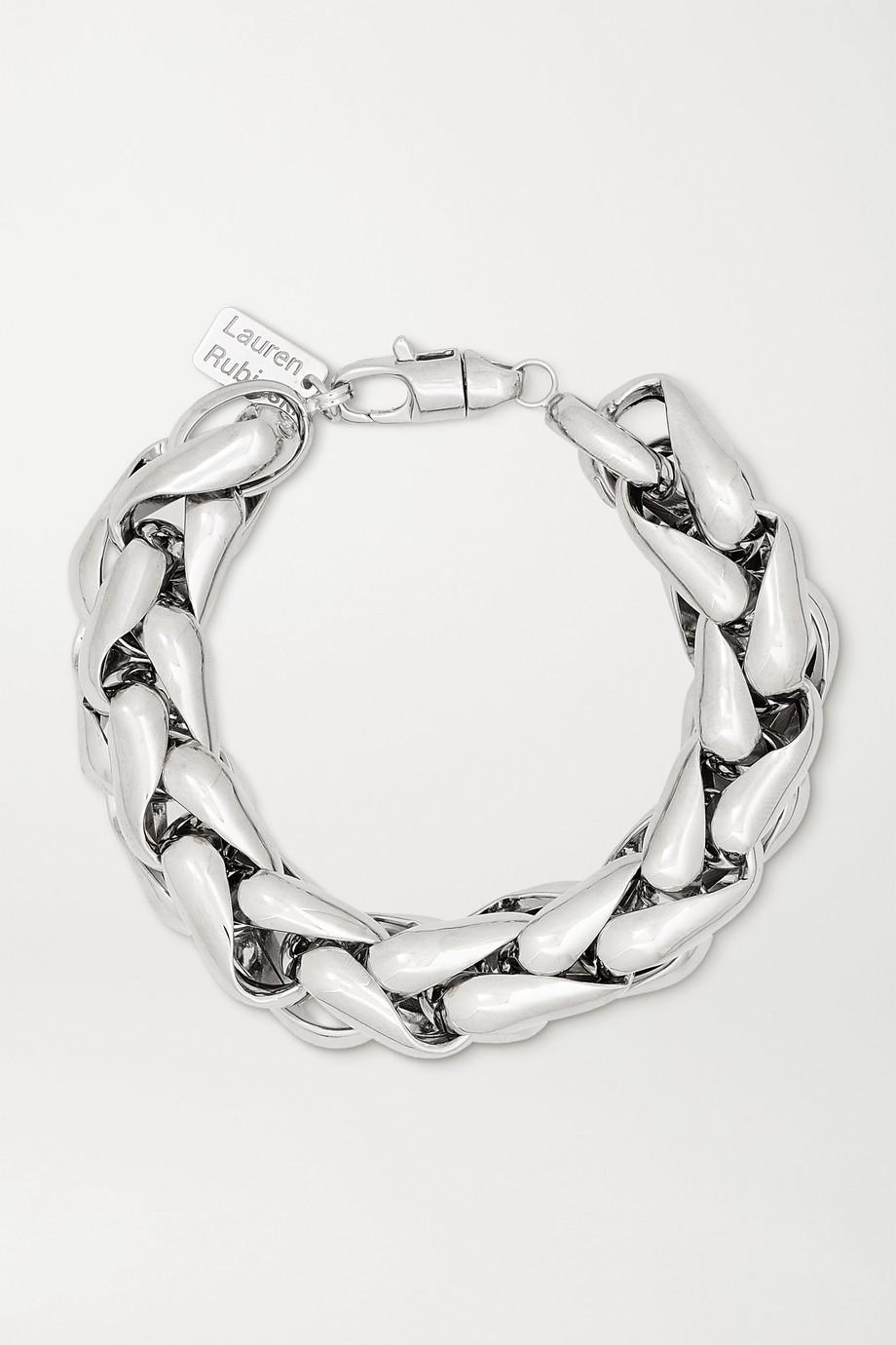 Lauren Rubinski Large 14-karat white gold bracelet