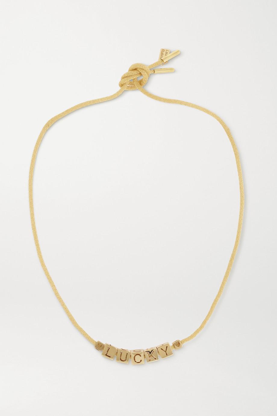 Lauren Rubinski Lucky 14-karat gold necklace