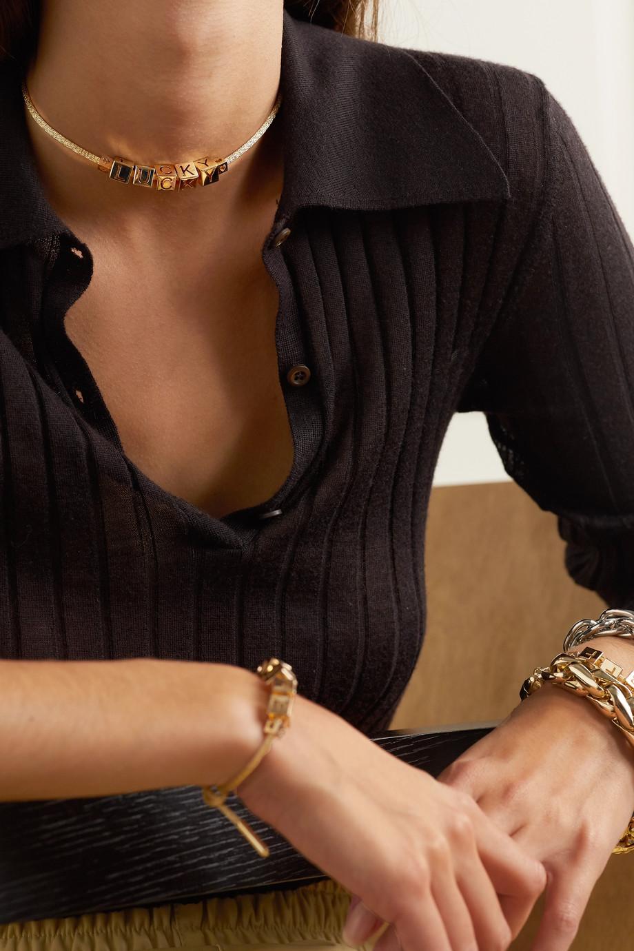 Lauren Rubinski Lucky Kette aus 14 Karat Gold