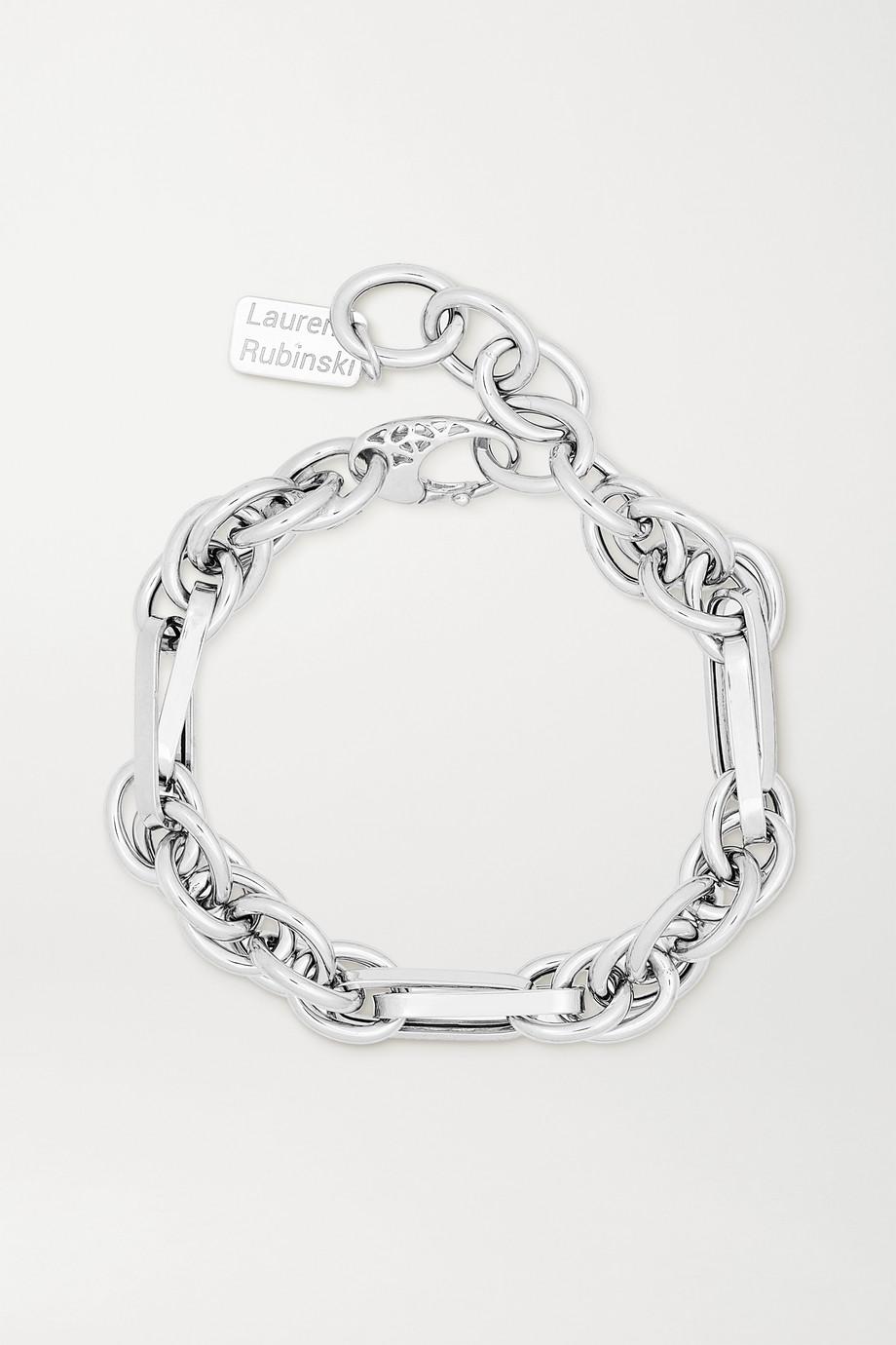 Lauren Rubinski Small 14-karat white gold bracelet