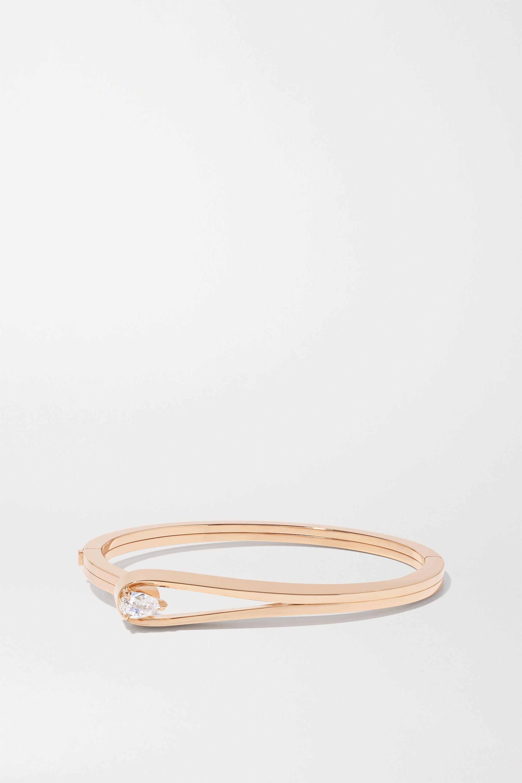 Repossi Serti Inversé 18-karat rose gold diamond bangle