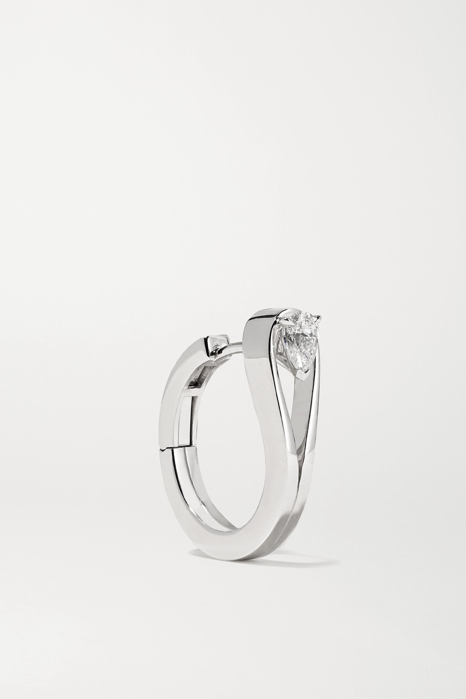 Repossi Serti Inversé 18-karat white gold diamond earring