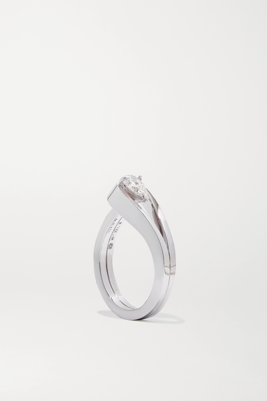 Repossi Serti Inversé 18-karat white gold diamond ring