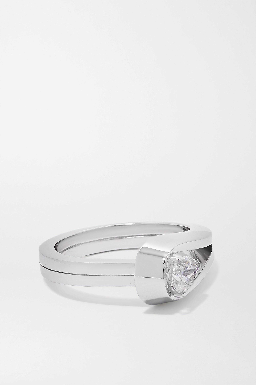 Repossi Bague en or blanc 18 carats et diamant Serti Inversé