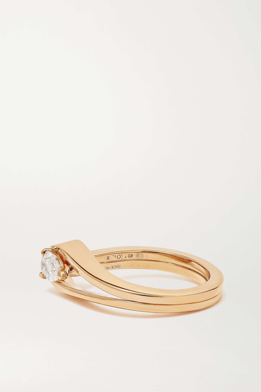 Repossi Serti Inversé 18-karat rose gold diamond ring