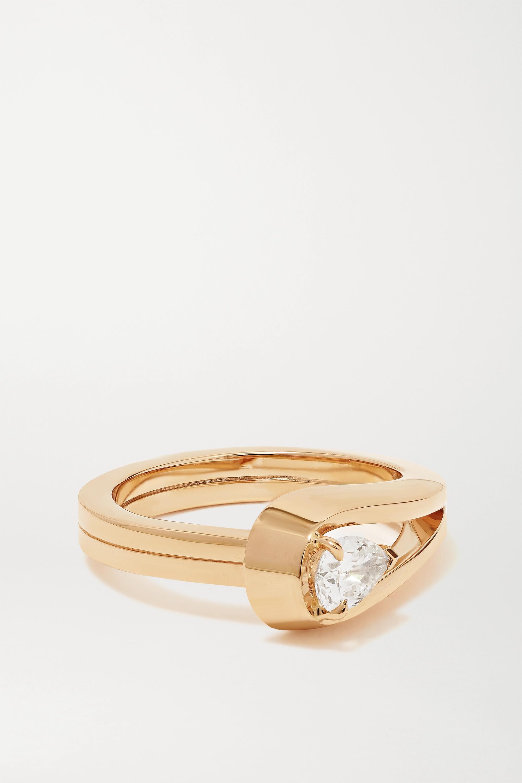 Repossi Bague en or rose 18 carats et diamant Serti Inversé