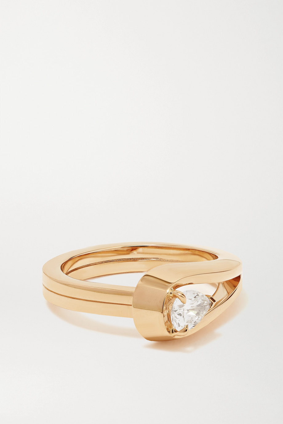 Repossi Serti Inversé 18-karat rose gold diamond ring
